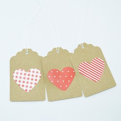 "10 Gift Tags ""Heart"""