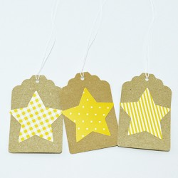 "10 Gift Tags ""Star"""