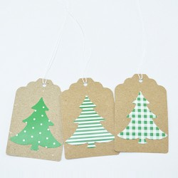 "10 Gift Tags ""Tree"""