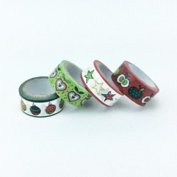 "4 Washi Tapes ""Apple"""
