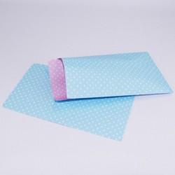 "10 Paper Bags ""Polka Blue"""