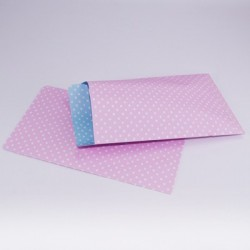 "10 Paper Bags "" Polka Pink"""