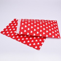 "10 Paper Bags ""Hearts Red"""