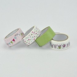 4 Klebebänder/ Washi Tapes...