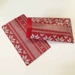 "10 Paper Bags ""Red Knit"""