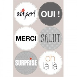 Stickers with French...