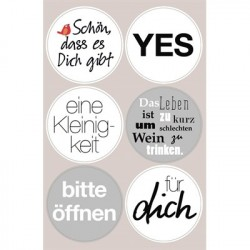 Stickers with German...