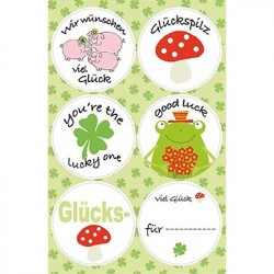 "Stickers with Claims ""Luck"""