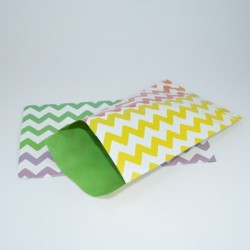"10 Paper Bags ""Chevron Color"""