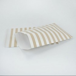 "10 Paper Bags ""Gold Stripes"""