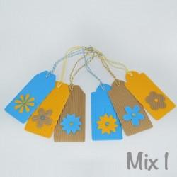 """6 Geschenkanhänger """"Blumen"""""""