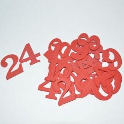 24 Zahlen für Adventskalender